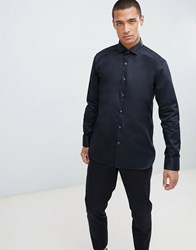 Ted Baker Shirt With Stretch In Black