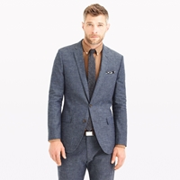 J.Crew Ludlow Suit Jacket In Japanese Chambray Chambray Navy