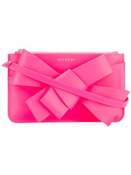 Delpozo Small Bow Clutch Pink And Purple