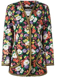Moschino Vintage Couture Floral Jacket Black
