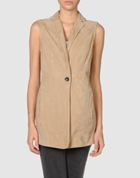 Piazza Sempione Leather Outerwear Sand
