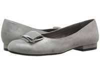 Aerosoles Good Times Silver Leather Women's Flat Shoes