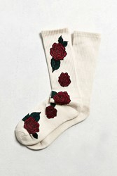 Urban Outfitters Rose Sport Sock Ivory