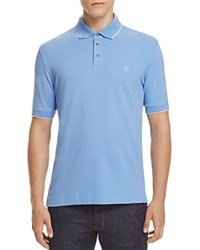 Z Zegna Piquet Slim Fit Polo Light Blue