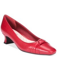 Easy Street Shoes Easy Street Waive Pumps Women's Shoes Red