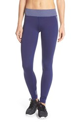 Women's Under Armour 'Armour' Coldgear Tights Blue Knight Metallic Silver