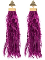Katerina Makriyianni Purple Rain Drop Earrings Pink And Purple