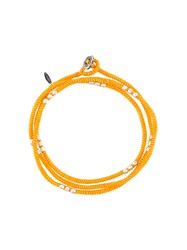 M Cohen M. Contrast 'Knotted Wrap' Bracelet Yellow And Orange