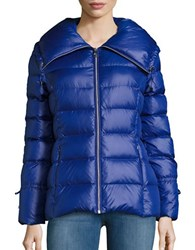 Karl Lagerfeld Packable Quilted Puffer Coat Cobalt