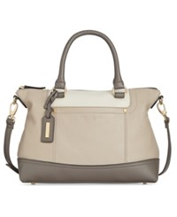 Tignanello Smooth Operator Leather Convertible Satchel Tusk Egg Storm