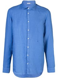 Massimo Alba Canary Shirt Blue