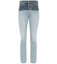Vetements High Rise Straight Jeans Blue