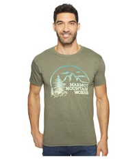 Marmot Halation Short Sleeve Tee Olive Heather Men's Clothing