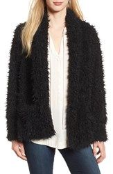 Love Fire Women's Faux Fur Jacket Black