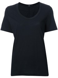 Bassike Scoop Neck T Shirt Black