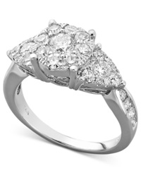 Macy's Trilogy Diamond Engagement Ring In 14K White Gold 1 1 2 Ct. T.W.