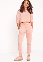 Missguided Petite Tie Waist Jogger Pink No