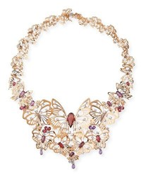 Staurino Fratelli Butterflies Farm Necklace With Diamonds Sapphire And Amethyst