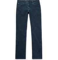 Ag Jeans Everett Slim Fit Cotton Blend Corduroy Trousers Storm Blue