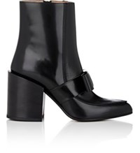 Marni Women's Bow Strap Leather Ankle Boots Black No Color Black No Color