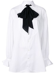 Polo Ralph Lauren Necktie Buttoned Shirt White