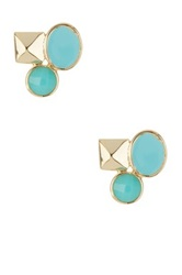 Ariella Collection Cluster Stud Earrings Blue