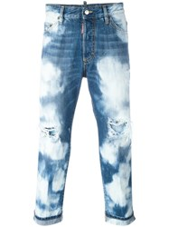 Dsquared2 Glamhead Highly Bleached Jeans Blue