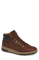 Mephisto Pitt Mid Lace Up Boot Tobacco Black Leather