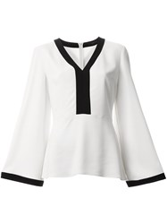 Etro V Neck Blouse White