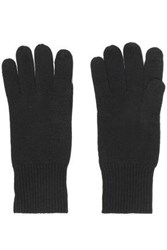 Autumn Cashmere Knitted Gloves Black