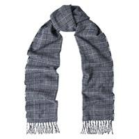 Duchamp Cross Wool Scarf Blue