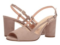 French Sole Berry Natural Suede Sling Back Shoes Tan