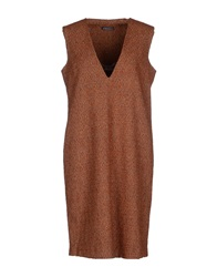 Laura Urbinati Short Dresses Brown