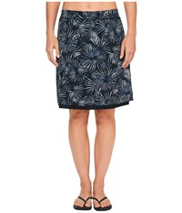 Exofficio Wanderlux Reversible Print Skirt Carbon Women's Skirt Gray