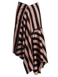 Marques Almeida Loop Decorated Asymmetric Draped Skirt Black Pink