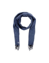 Boss Black Oblong Scarves Slate Blue