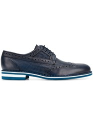 Baldinini Embroidered Derby Shoes Blue