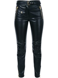 Moschino Skinny Biker Trousers Black
