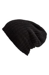 Women's Free People 'Capsule' Slouchy Knit Beanie Black