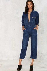 Citizens Of Humanity Sylvie Denim Jumpsuit Blue