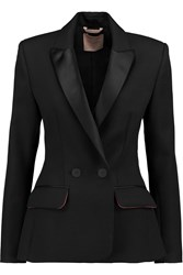 Roksanda Ilincic Laverton Satin Trimmed Woven Jacket Black