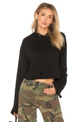 Lovers Friends X Revolve Alma Cropped Hoodie Black