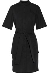 Adam By Adam Lippes Belted Cotton Shirt Dress Black