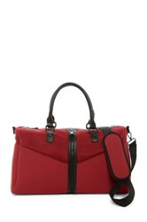 Poverty Flats Sport Center Zip Duffle Red