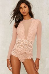 Hot As Hell Jacky B Lace Bodysuit Pink