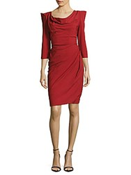Vivienne Westwood Solid Three Quarter Sleeve Sheath Dress Red