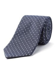Racing Green Equador Spot Tie Navy