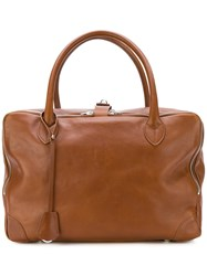 Golden Goose Deluxe Brand Equipage Tote Leather Brown