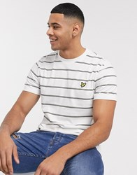 Lyle And Scott Stripe T Shirt In White