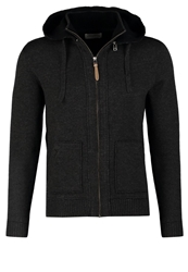 Harris Wilson Loyal Cardigan Anthracite Chine Noir Silver